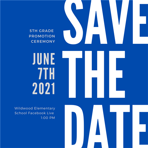 save the date 5th grade promotion