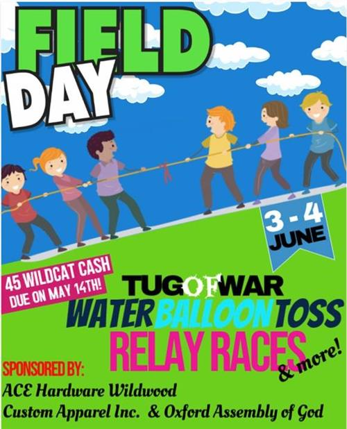 Field day poster of children playing