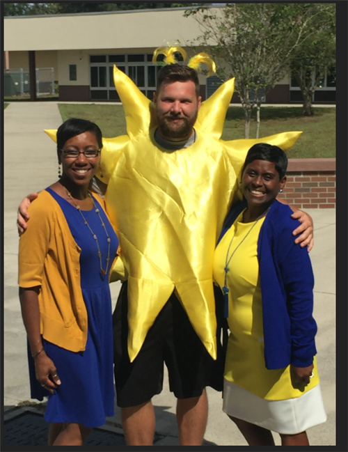 Mrs. Haugabrook, Mr. Moreland and Mrs. McMullen (Principal of WES)