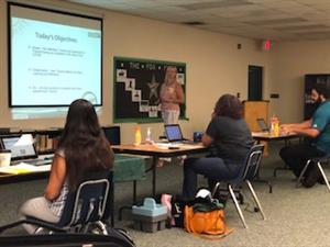 Sumter PREP teachers engaged in a training