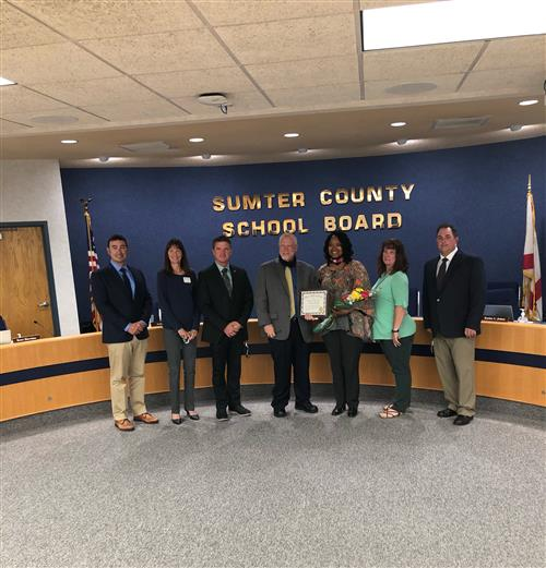 Mrs. Presley, Superintendent Shirley and the members of the Sumter County school board
