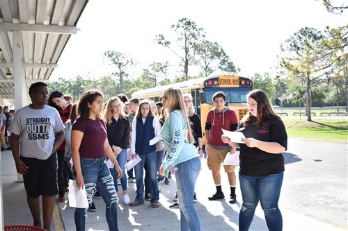 8th Grade Visit Students