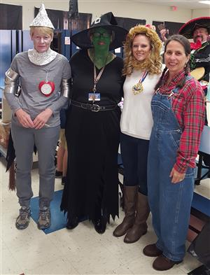 faculty in costumes