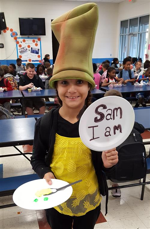 student dressed as Sam I Am