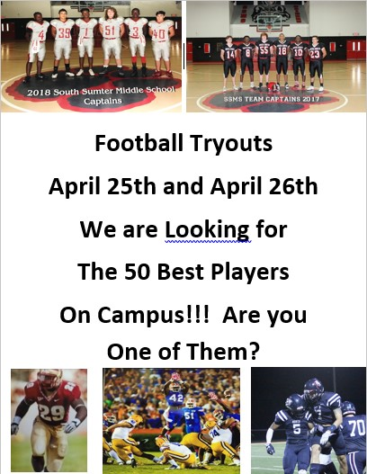 football players advertising for tryouts