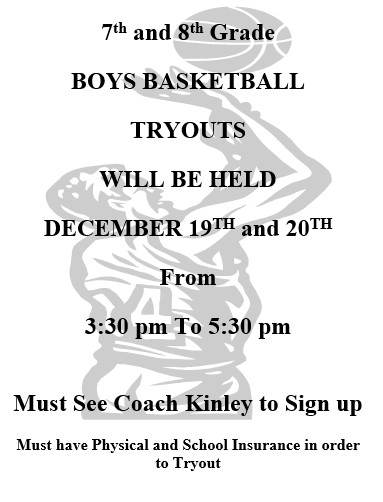 Boys Basketball Tryouts Flyer