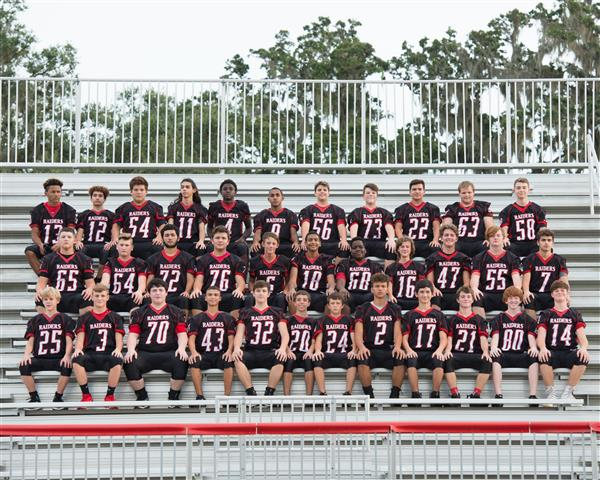 2018 JV Football Team Photo