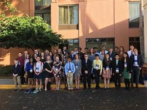 Group of students and advisors for the State Science and Engineering Fair